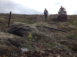 Múlastaðir, Girðingavinna með Baldri á Múlakoti og Daníel frá Sámsstöðum_08062016HGS (4)