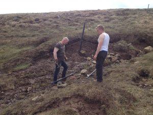Múlastaðir, Girðingavinna með Baldri á Múlakoti og Daníel frá Sámsstöðum_08062016HGS (9)